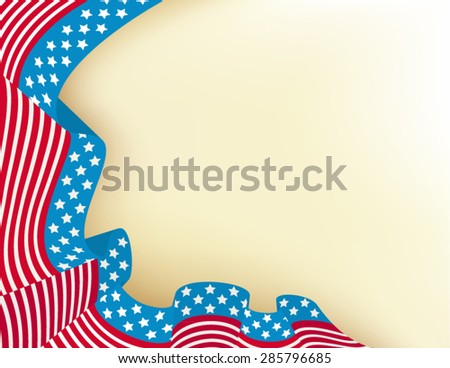 Fourth of july holiday background - stock vector