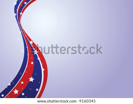 Fourth of July Patriotic Background - stock vector