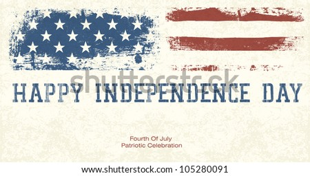 Fourth Of July Patriotic Celebration Background. Vector, EPS10 - stock vector