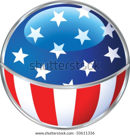 Fourth of July sign - stock vector