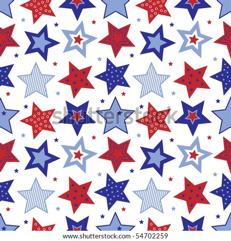 Fourth of July Stars Vector - stock vector