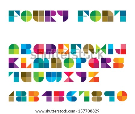 Foury Line Font - stock vector