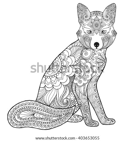 black white hand drawn doodle animal ethnic patterned vector illustration african