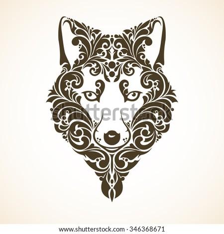 Fox decorative ornament. - stock vector