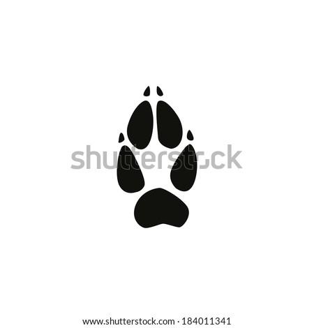 fox footprint - stock vector