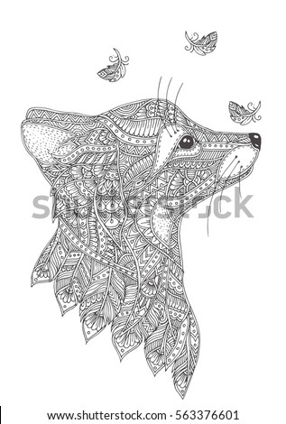 91 Coloring Pages For Adults Fox