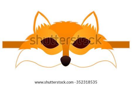 fox mask vector - stock vector