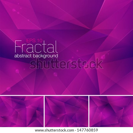 Fractal abstract background - stock vector