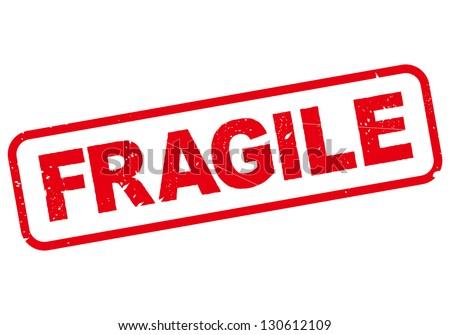 FRAGILE - stock vector