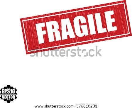 Set Fragile Sticker Handle Care Case Stock Vector ...