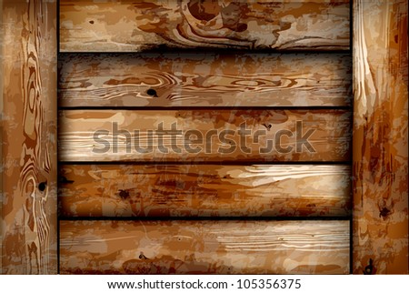 Fragile wooden box. Vector background - stock vector