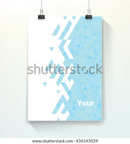 Roll Banner Layout Template Design Connection Stock Vector ...