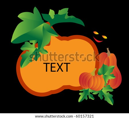 Frame, background with a pumpkin. Vector illustration. - stock vector