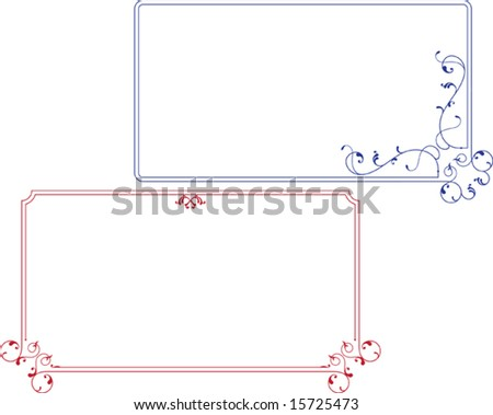 Frame, Border Designs in various shapes - stock vector