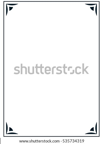 Beautiful Floral Border Pattern Frame Text Stock Vector 185105984