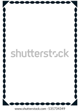 Frame border line page vector simple