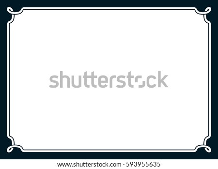 Frame Border Line Page Vector Vintage Stock Vector 557089441