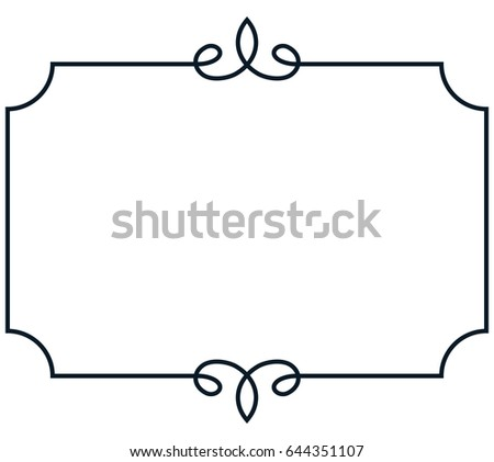 Frame Border Line Page Vector Vintage Stock Vector HD (Royalty Free ...