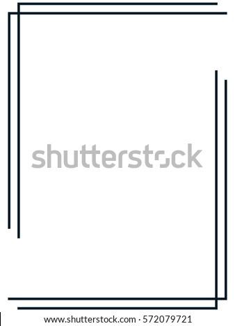 Frame Border Vector Stock Vector 572079721 - Shutterstock