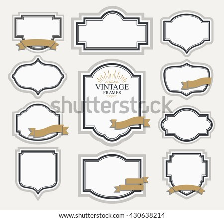 Frame Classic Template Vintage Contour Blank Stock Vector