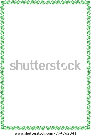 Frame A 4 Size Natural Stock Vector 774762841 - Shutterstock