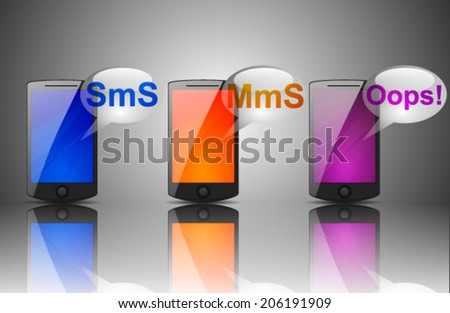 Frame for images or text with glassy - stock vector