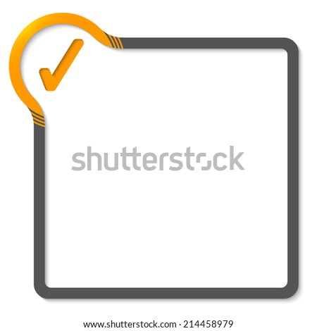 frame for text with yellow corner and check box - stock vector