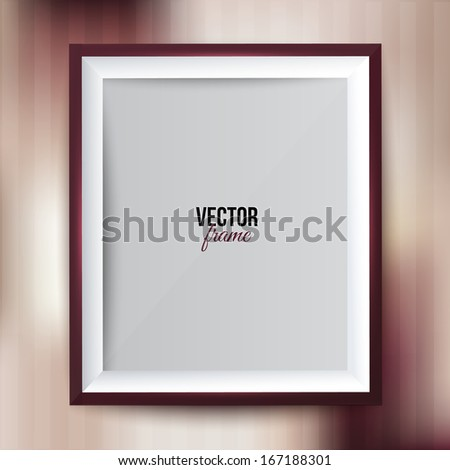 Frame for your photos on colorful background. - stock vector