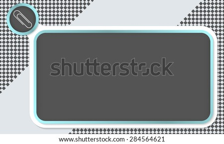 Frame for your text and paper clip - stock vector