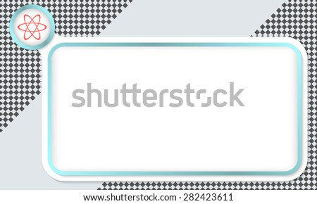 Frame for your text and science symbol - stock vector
