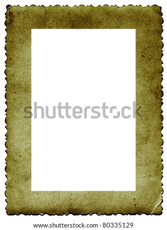 frame from old paper - stock vector