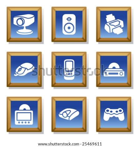 Frame icon set 21 - stock vector
