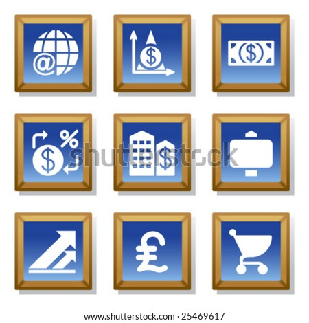Frame icon set 23 - stock vector