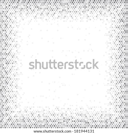Frame illustration background. Spotted seamless abstract tile halftone effect. - stock vector