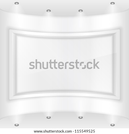 Frame in a gallery, vector eps10 illustration - stock vector