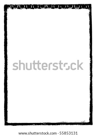 frame in grunge style - vector