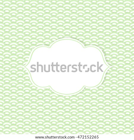 Frame in retro style on seamless background. Vector illustration.