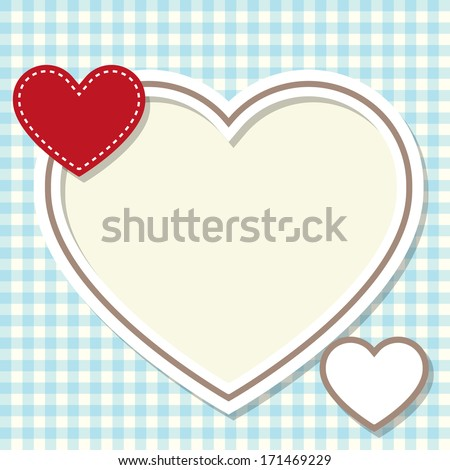 frame in the shape of heart - stock vector
