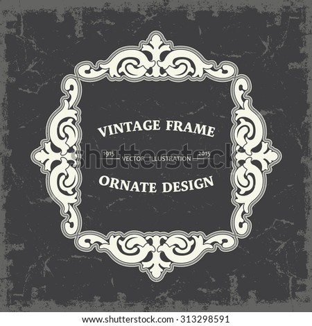 Frame in vintage style - stock vector