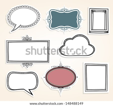 Frame labels. EPS10. - stock vector