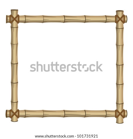 frame made of bamboo - stock vector