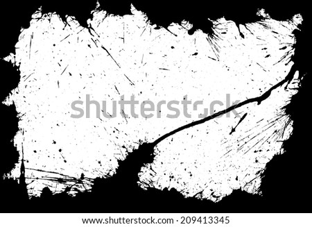 Frame made of ink blots and stains silhouettes - stock vector