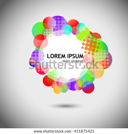 Frame of colorful circles. Vector