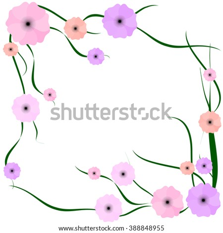 frame of different colors - stock vector