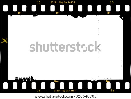 frame of film, grungy photo frame,with free copy space,vector illustration,fictional artwork - stock vector
