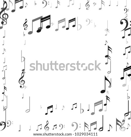 Frame Music Note Signs Symbols Dance Stock Vector HD (Royalty Free ...
