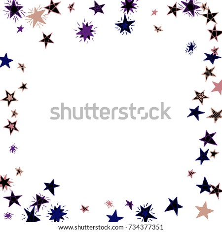 Frame Of Stars Light Starry Background Doodle Pattern For Card Banner Poster