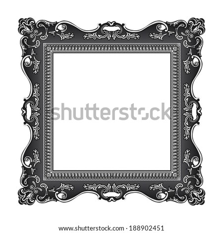 frame old ornament victorian picture - stock vector