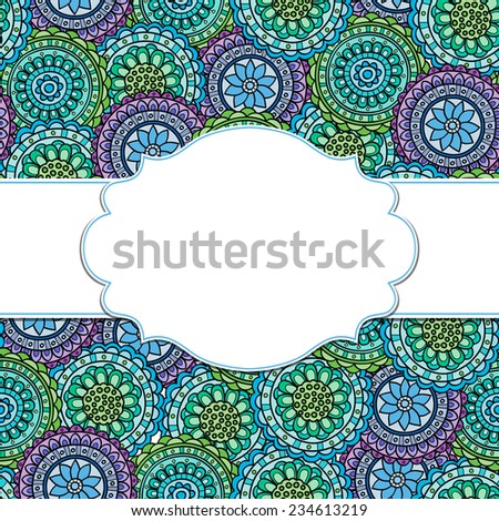 Frame on a nature ornamental backgrounds.Vector   illustration. Eps10. - stock vector