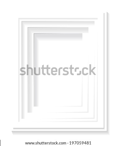Frame on the wall as a background. - stock vector